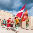 In GuardiParade at St. Jonh's Cavalier in Birgu, Malta. — Stock Photo #33628055