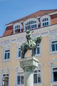 Michel Fountain in Esslingen am Neckar, Germany — Stock Photo