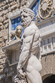 Hercules statue at Signoria square in Florence, Italy — Stockfoto
