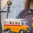 Stock Photo: Malta's colourful buses in Gozo.