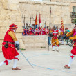 In GuardiParade at St. Jonh's Cavalier in Birgu, Malta. — Stock Photo #33956085