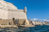 Fort Saint Angelo in Vittoriosa (Birgu), Malta, as seen from the — Stockfoto