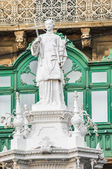 Saint Lawrence at Vittoriosa Square in Birgu, Malta — Foto Stock