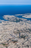 Valletta in Malta as seen from the air. — Stok fotoğraf