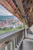 Esslingen am Neckar views from Castle stairs, Germany — Stock Photo