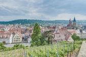 Esslingen am vistas neckar desde el castillo, alemania — Foto de Stock
