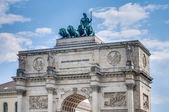 Siegestor, the triumphal arch in Munich, Germany — Stock Photo