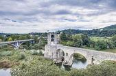 Ponte medievale a besalu, spagna — Foto Stock