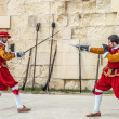 In GuardiParade at St. Jonh's Cavalier in Birgu, Malta. — Stock Photo #35778071