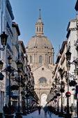 Alfonso I street at Zaragoza, Spain — 图库照片