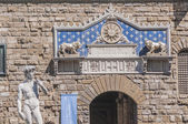 意大利佛罗伦萨市政厅,旧宫. — 图库照片