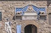 El palazzo vecchio, del ayuntamiento de florencia, italia. — Foto de Stock