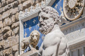 Hercules statue at Signoria square in Florence, Italy — Stock Photo