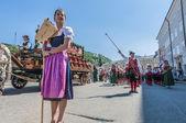 Salzburger dult festzug em salzburg, áustria — Foto Stock