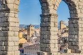 Aqueduto de segóvia em castela e leão, espanha — Foto Stock