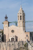 Sant Bartomeu i Santa Tecla church at Sitges, Spain — Stock Photo