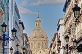 альфонсо i улице в сарагоса, испания — Стоковое фото