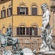 Stock Photo: The Fountain of Neptune by Ammannati in Florence, Italy