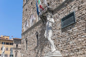 Michelangelo's David statue in Florence, Italy — Стоковое фото