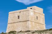 Dwajra tower ligger i gozo island, malta. — Stockfoto