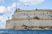 Fort Saint Angelo in Vittoriosa (Birgu), Malta, as seen from the — Стоковое фото