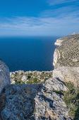 Os penhascos de dingli em malta — Foto Stock