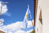 Flag in Humahuaca in Jujuy Province, Argentina. — Stock Photo