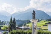 Fountain in Oberperfuss village, Austria. — ストック写真