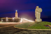 Statue of Breogan in A Coruna, Galicia, Spain. — Stockfoto