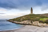 Lapas Beach in A Coruna, Galicia, Spain. — Стоковое фото