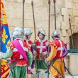 In GuardiParade at St. Jonh's Cavalier in Birgu, Malta. — Stock Photo #39077393