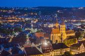 Эслинген am neckar просмотров от замка, Германия — Стоковое фото