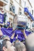 Tamborrada bęben na calanda, hiszpania — Zdjęcie stockowe