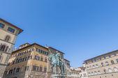 Cosimo di Giovanni degli Medici statue in Florence, Italy — Stock Photo