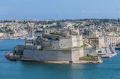 Fort Saint Angelo in Vittoriosa (Birgu), Malta, as seen from the — Stok fotoğraf