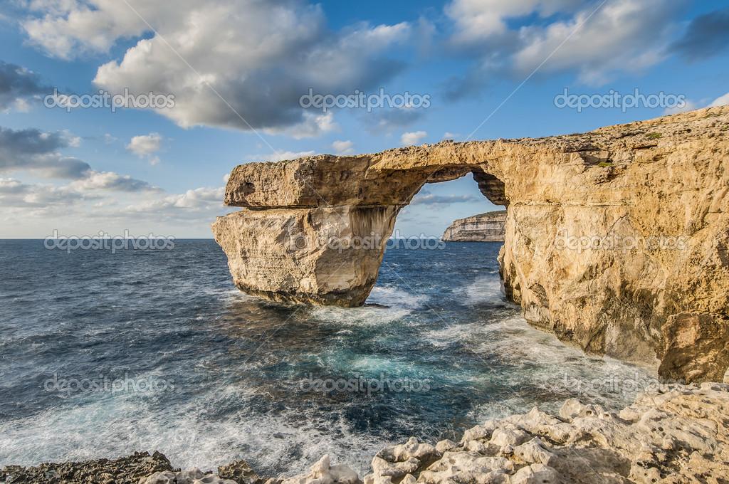 Finestra azzurra nell 39 isola di gozo malta foto stock - Finestra sul mare malta ...