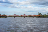 Bridge over Gualeguaychu River, Argentina. — Stock Photo