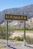 Maimara on Quebrada de Humahuaca in, Argentina. — Stock Photo