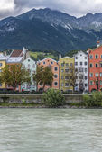 Inn river on its way through Innsbruck, Austria. — Stock Photo