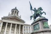 Goffredo di buglione a bruxelles, belgio — Foto Stock