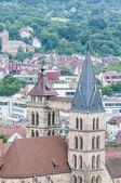 Igreja de saint dionysius esslingen estou neckar, alemanha — Foto Stock