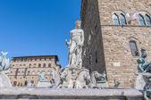 фонтан нептуна, амманнати в флоренции, италия — Стоковое фото
