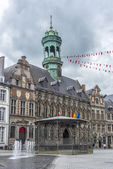 The central square and town hall in Mons, Belgium. — Stock Photo