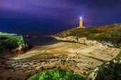 Lapas Beach in A Coruna, Galicia, Spain. — Stock Photo