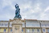 Monument to Maria Pita, A Coruna, Galicia, Spain. — Stock Photo