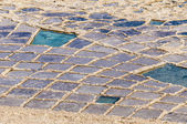 Salt pans near Qbajjar in Gozo, Malta. — Stock Photo