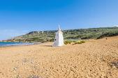 Ramla playa en el lado norte de gozo, malta — Foto de Stock