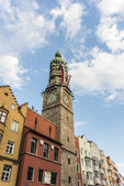 The City Tower in Innsbruck, Austria. — Stock fotografie