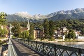 Innsteg bridge in Innsbruck, Upper Austria. — Stock Photo