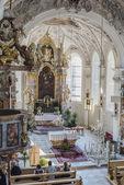 Kerk van saint margaret in oberperfuss, Oostenrijk. — Stockfoto